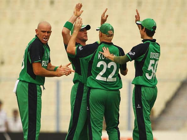 Ireland players celebrate a wicket during ICC 2011 World Cup © Getty Images