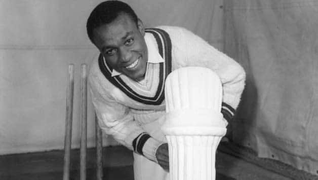 Conrad Hunte (above) risked his own life, climbed the terrace amidst the spreading fire and tried to retrieve the national flags © Getty Images