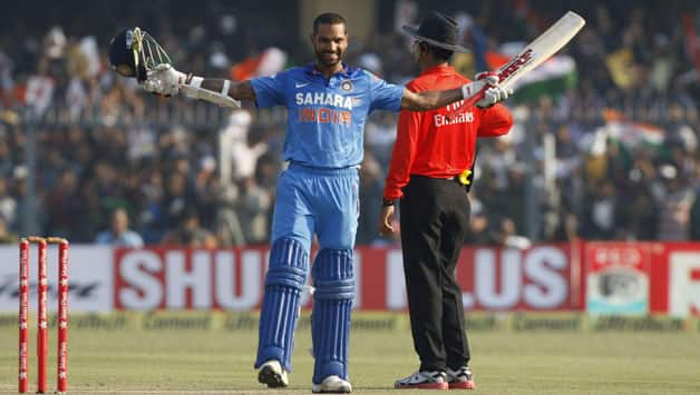 Shikhar Dhawan scored a century in the last ODI of the West Indies series © IANS