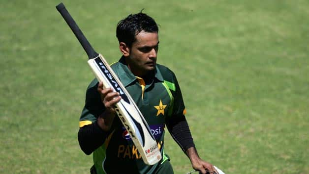 Mohammad Hafeez scored another match-winning 113 not out in Pakistan's successful chase of 226-run target, his third hundred in the series © AFP