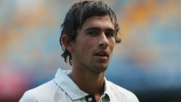 Ashton-Agar-of-the-Warriors-looks-on-during-day-three-of-the-Sheffield-Shield-match-betw