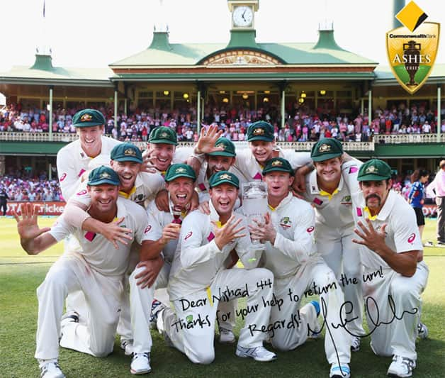 Fans can get this picture with a message from Michael Clarke. Courtesy: Cricket Australia