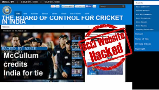 A screenshot of BCCI's hacked website.