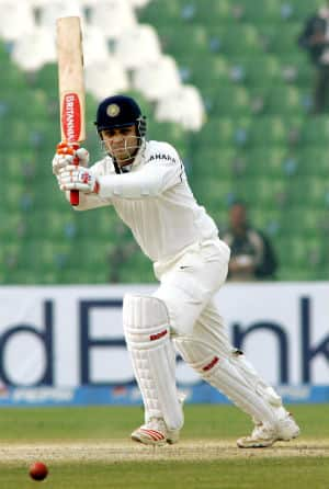 Sunil Gavaskar says Virender Sehwag (in picture) looks more comfortable when the ball is coming onto the bat © AFP