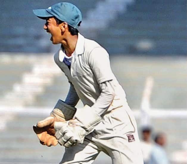Kesar Singh Thapa was unbeaten on 222 at the end Day Three. Photo Courtesy: Swapnil Sakhare-DNA