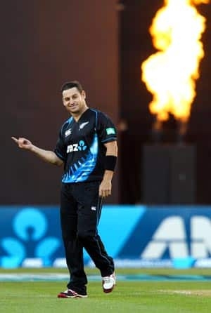 Nathan McCullum's bowling average in ODIs is an impressive 4.85 © Getty Images