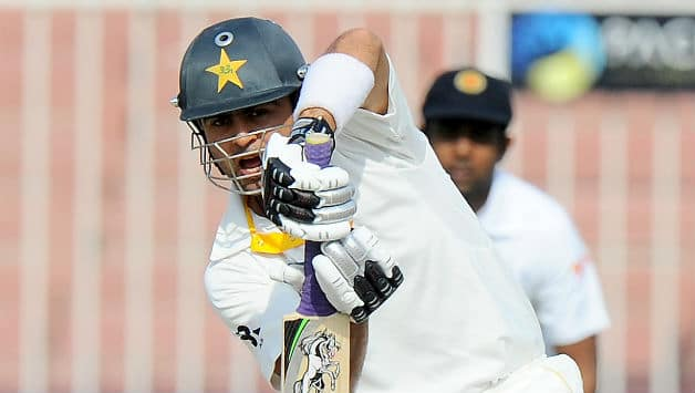 Ahmed Shehzad was unbeaten on 42 at lunch © AFP