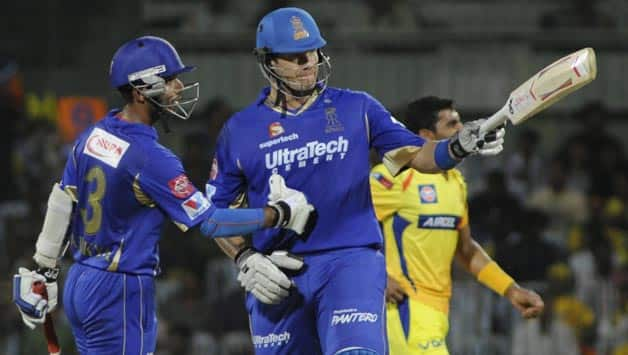 Ajinkya Rahane (left) and Shane Watson were the key performers for the Rajasthan Royals in 2013 © IANS