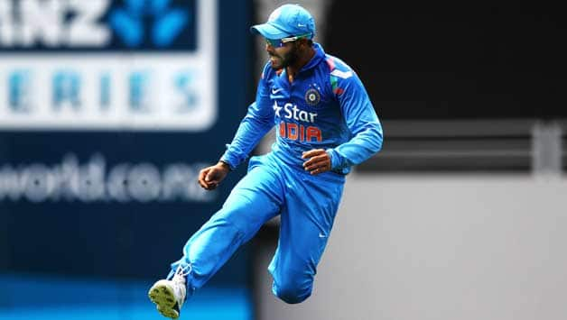 Ravindra Jadeja's efforts with the bat in the third ODI would have given India more belief heading into the final two matches against New Zealand © Getty Images