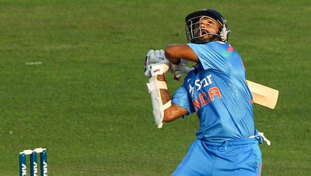 Shikhar Dhawan endured a wretched time in the ODI's in New Zealand © Getty Images