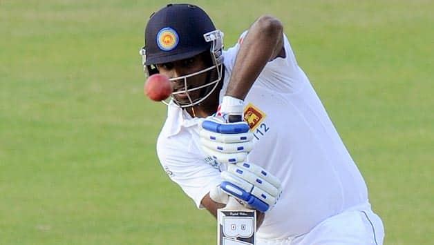 Angelo Mathews (above) and Prasanna Jayawardene are the unbeaten batsmen © AFP