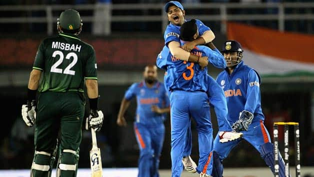 India last played a bilateral series against Pakistan in 2012-13 in India © Getty Images