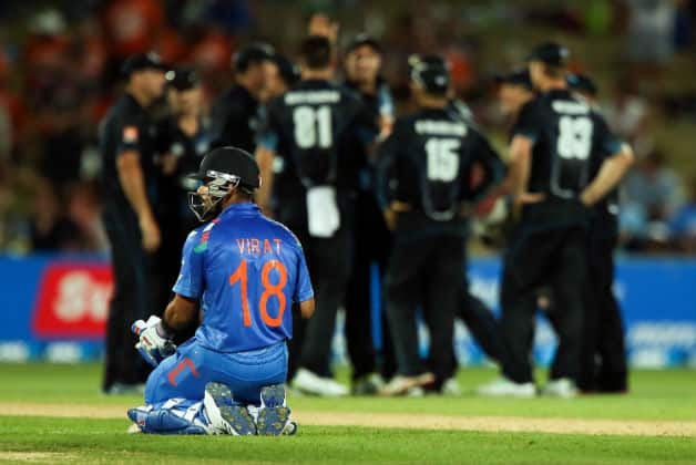 Virat Kohli fought a lone battle against New Zealand in the first ODI at Napier © Getty Images
