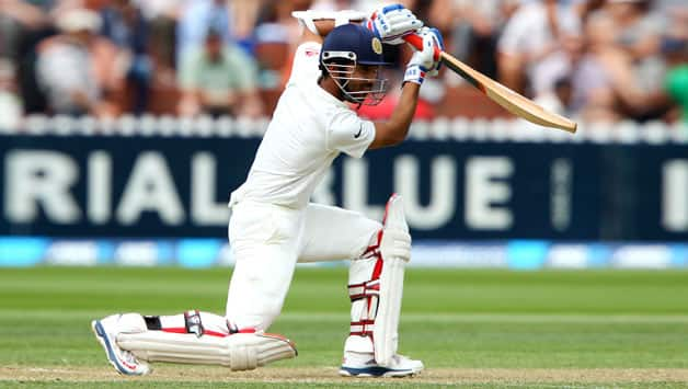 Ajinkya Rahane scored his first Test hundred against New Zealand at Wellington © Getty Images