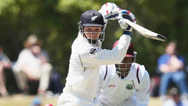 BJ-Watling-of-New-Zealand-drives-the-ball-away-for-four-runs-during-day-two-of-the-first-test-match-between-New-Zealand-an