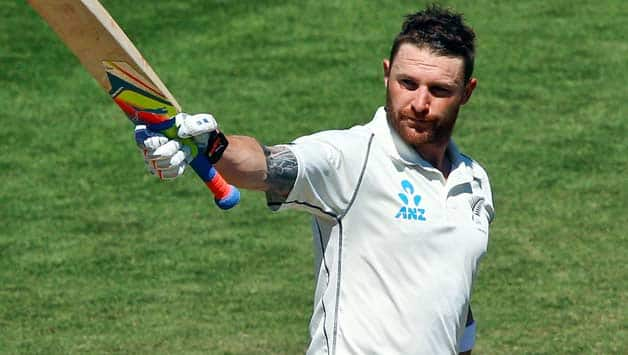 Brendon McCullum scored 302 runs for New Zealand in the second Test against India © Getty Images