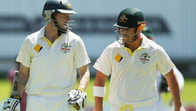 Chris Rogers and David Warner (right) gave Australia a 100-run opening partnership which has boosted their chances in this Test © Getty Images