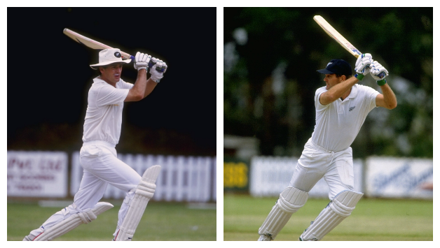 Andrew Jones (left) and Martin Crowe essayed a monumental partnerhship to extinguish all victory hopes of the Sri Lankans © Getty Images