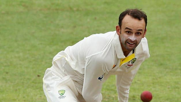 Nathan Lyon picked two crucial wickets of Dean Elgar and Faf du Plessis © Getty Images