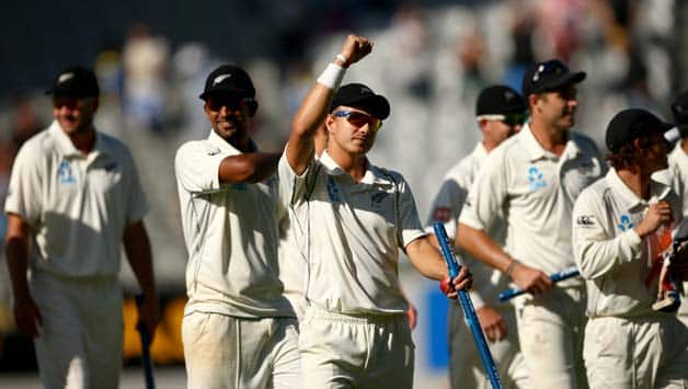The New Zealand pacers will be licking their lips on getting another green top for the second Test against India © Getty Images