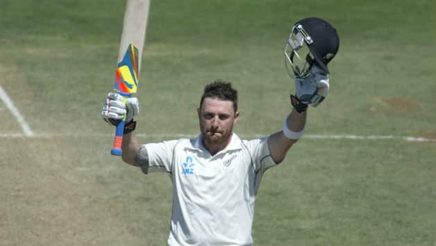 Brendon McCullum scored double centuries in consecutive Tests © AFP