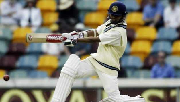 Parthiv Patel of India hits out during day four of the first test match between Australia and India played at the GABBA December