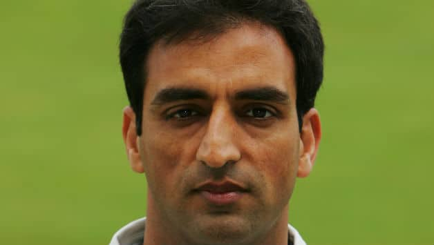 Portrait of Mohammad Akram of Surrey taken during the Surrey County Cricket Club Photocall