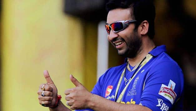 Rajasthan Royals co-owner Raj Kundra in happier times © PTI