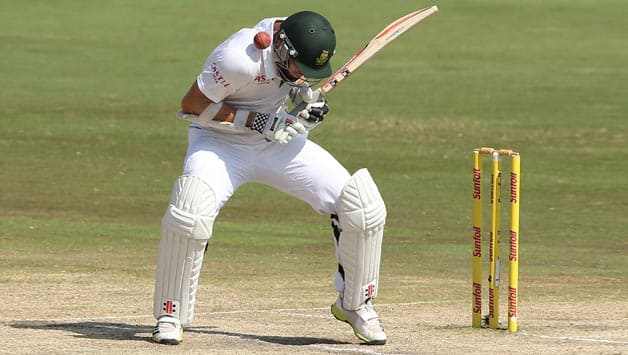 Ryan Mclaren (in picture) and Hashim Amla fell victim to some vicious bowling from Mitchell Johnson in the second innings © Getty Images