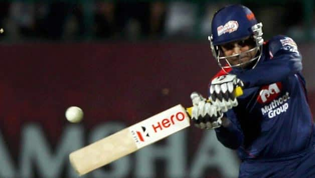 Virender Sehwag was the captain of Delhi Daredevils in the previous edition of the IPL © PTI