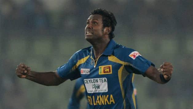 Angelo Mathews claimed three wickets to lead Sri Lanka to win © AFP