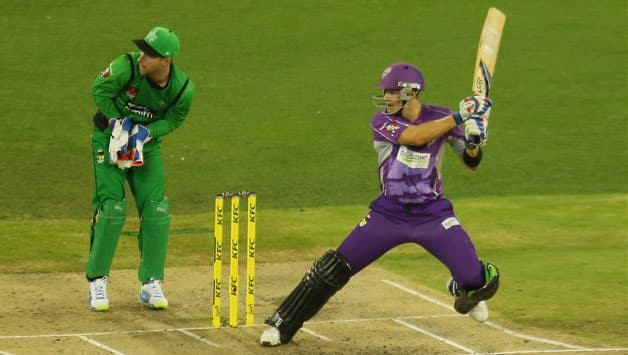 Tim Paine's (right) 65 off 50 balls set up the win for the Hobart Hurricanes © Getty Images