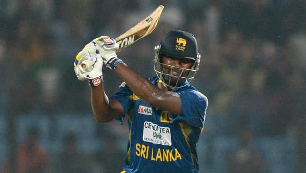 Thisara Perera scored the 3rd highest score by a No 9 in the 1st ODI © AFP