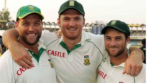 Jacques Kallis (left), Graeme Smith (centre) and Mark Boucher were great servants of South African cricket © Getty Images