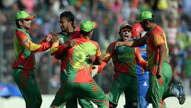 Shakib Al Hasan picked three wickets for eight runs © AFP