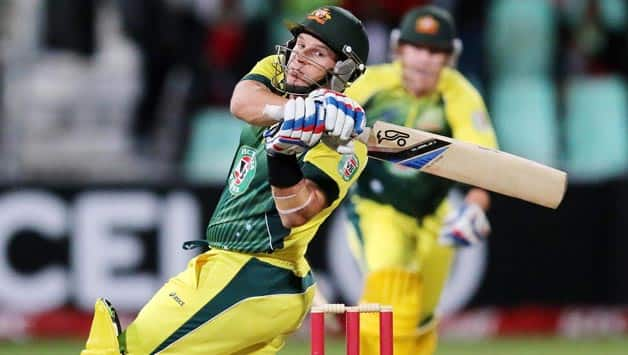 Brad Hodge (batting in picture) took Australia home in the T20I played at Durban © Getty Images