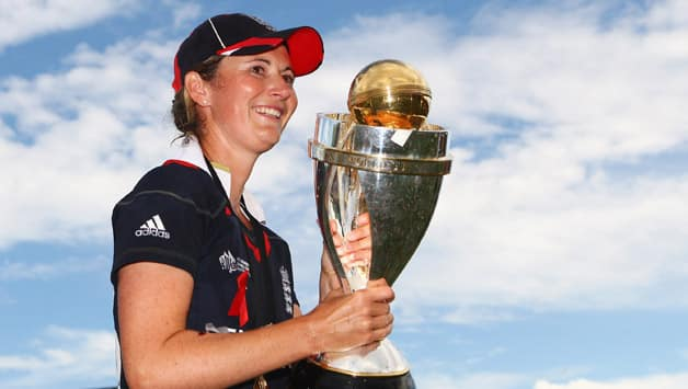 Charlotte Edwards after England won the ICC Women's World Cup 2009 © Getty Images