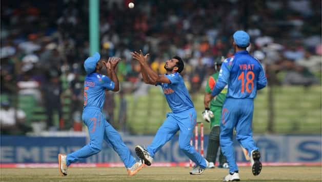India's victory over Afghanistan with a bonus point will matter only if Bangladesh are defeated by Pakistan © AFP