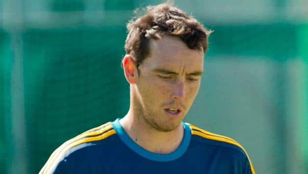 South African pacer Kyle Abbott during a training session ahead of the first T20 © Getty Images