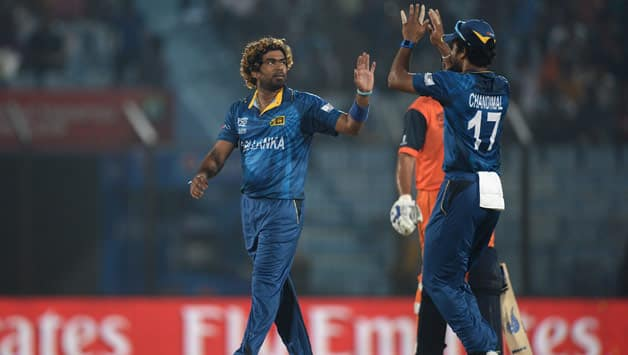 Lasith Malinga is now the highest wicket-taker in World T20s © AFP