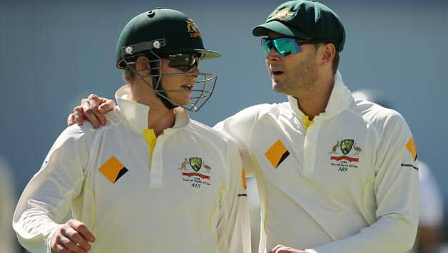 Michael Clarke (92) and Steve Smith (50) ensured Australia finished the day with only 3 wickets down. With 331 on the board things are already looking ominous for the hosts. © Getty Images (File photo)