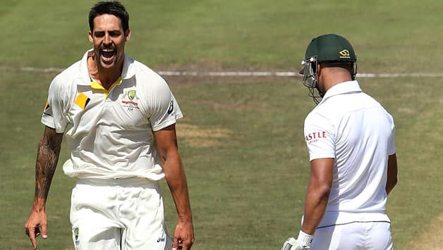 Mitchell Johnson was at his fiery best for Australia © Getty Images