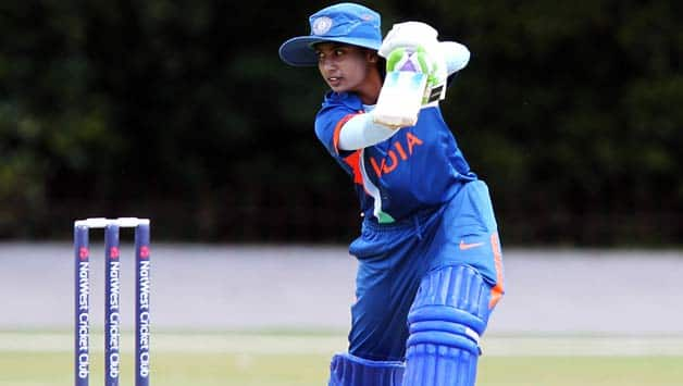 Mithali-Raj-of-India-hits-out-to-the-boundary-during-the-NatWest-Women's-Quadrangular-Series-between-Australia-and-India