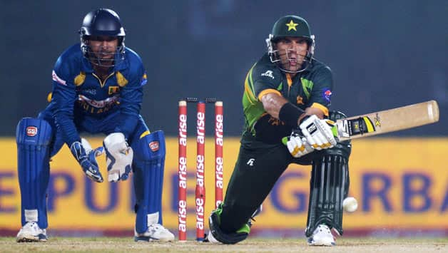 Pakistan captain Misbah-ul-Haq (batting in picture) came to their rescue with a fine innings © AFP