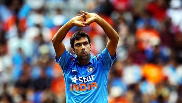 Ravichandran-Ashwin-of-India-reacts-during-the-One-Day-International-match-between-New-Ze