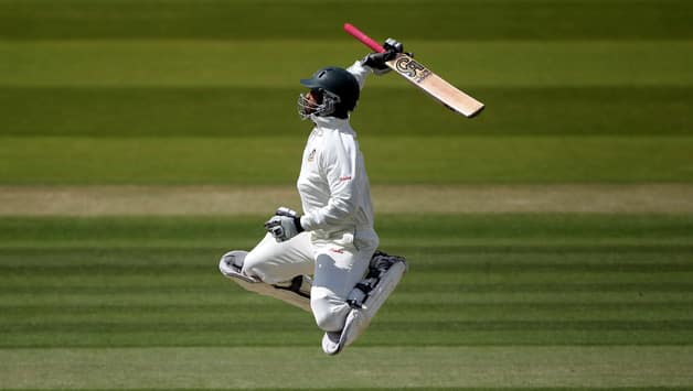 Tamim Iqbal celebrates his century at Lord's during Bangladesh's tour of England in 2010 © Getty Images