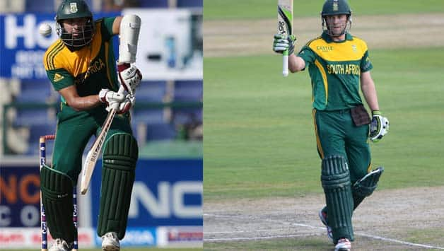 Though South Africa have a strong side, only Hashim Amla (left) and AB de Villiers have a good experience of batting in subcontinent conditions © Getty Images