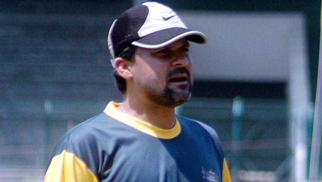 Moin Khan was the coach for Pakistan for just two months © AFP