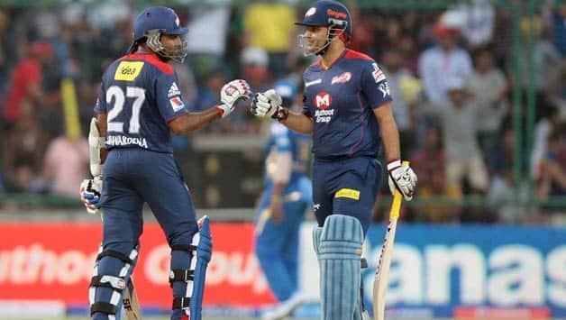 Mahela Jayawardene (left) and Virender Sehwag were unstoppable on that day at Delhi © IANS