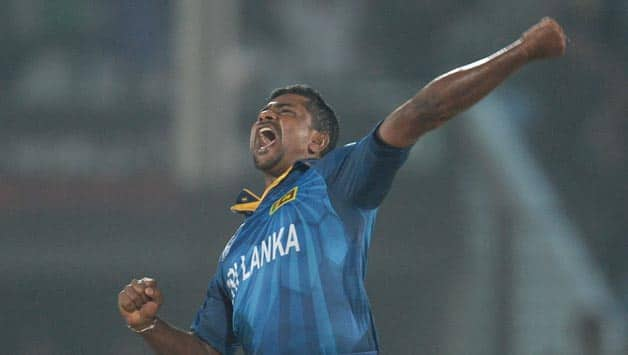 Rangana Herath was in fine form against New Zealand in ICC World T20 2014 © Getty Images